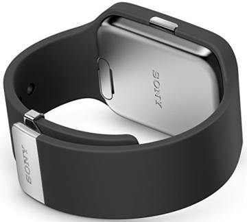Sony Mobile SWR50 SmartWatch 3 Fitness- und Aktivitätstracker Armband Kompatibel mit Android 4.3+ Smartphones - Schwarz - 3