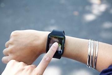 Sony Mobile SWR50 SmartWatch 3 Fitness- und Aktivitätstracker Armband Kompatibel mit Android 4.3+ Smartphones - Schwarz - 4