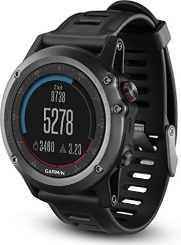 Garmin fenix 3 GPS-Multisport Uhr (hochwertiges Design, zahlreiche Navigations & Sportfunktionen, GPS/GLONASS) -