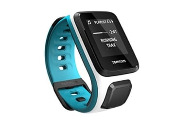 TomTom Runner 2 Cardio + Musik GPS Uhr, weiß/blau, S, 1RFM.001.03 -